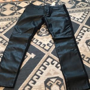 Banana republic leather front pants